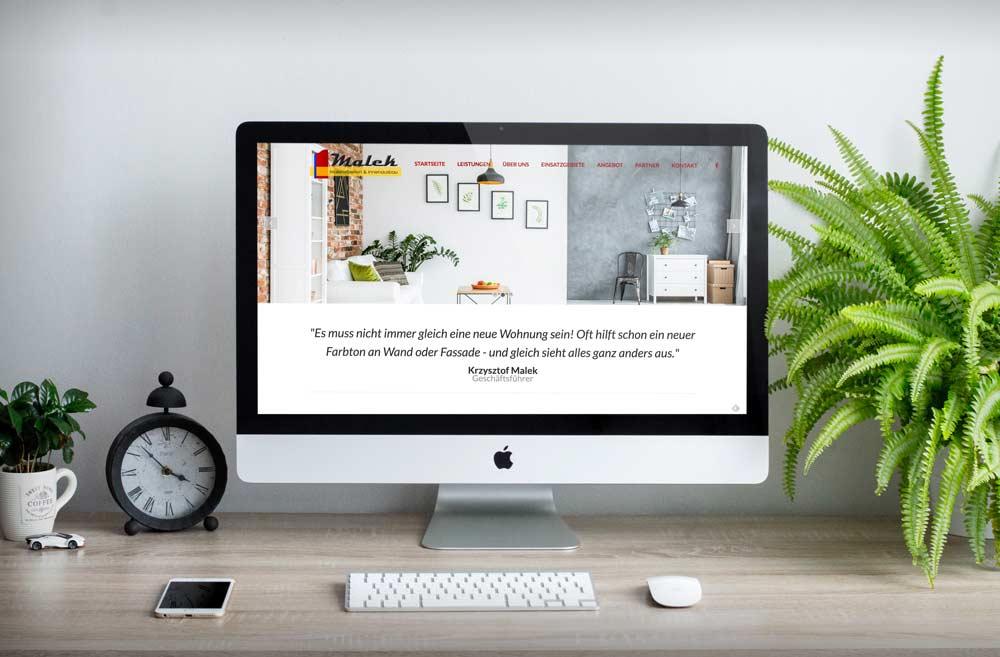 Maler Mönchengladbach malermeister malek mönchengladbach werbegentur für webdesign und
